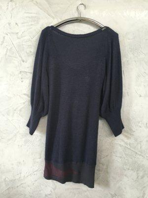 Miss Sixty Sweater Dress dark blue mixture fibre