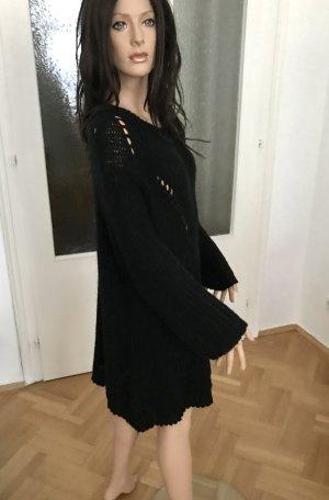 ◉ Strick Kleid / Pullover Lochmuster langarm Größe 38 bis Größe 42 ◉