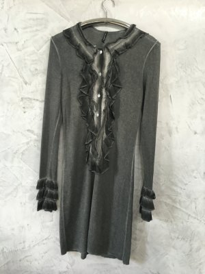 Sweaterjurk grijs Gemengd weefsel