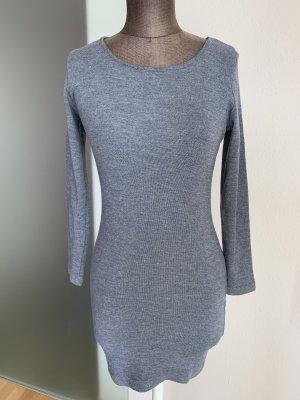 Benetton Gebreide jurk grijs