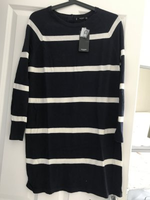 Mango Sweater Dress dark blue-white