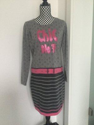 Strick Kleid von Tutzzi Pailetten rosa Gr. 40/42 L XL
