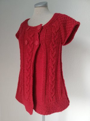 Coarse Knitted Jacket red