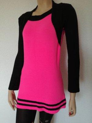 Strick Long Pullover Bolero Look Minikleid Longpullover Kleid