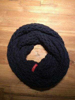 Esprit Caperuza azul oscuro tejido mezclado