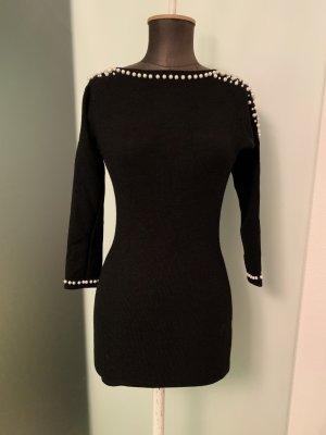 Gebreide jurk zwart-wit