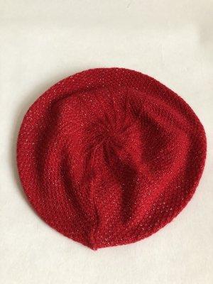 Gorra color oro-rojo oscuro tejido mezclado