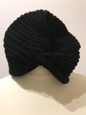 Strick Mütze Turban schwarz Asos NEU
