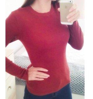 H&M Crewneck Sweater russet viscose