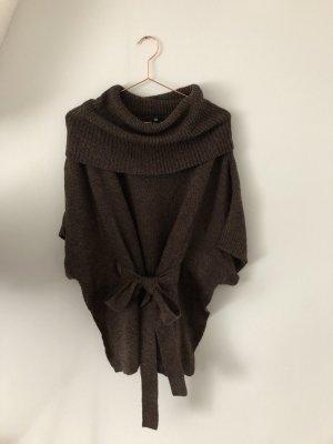 H&M Poncho en tricot taupe-bronze laine