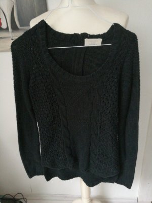 Zara Jersey de punto negro