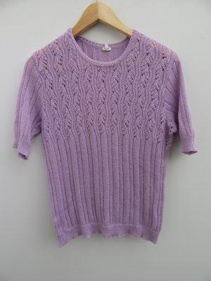 Vintage Top en maille crochet mauve
