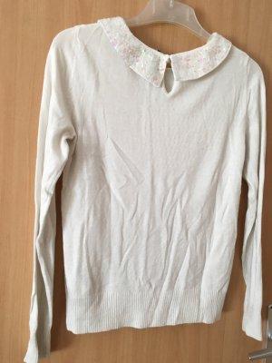 H&M Cardigan en maille fine blanc