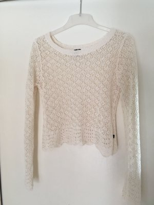 QS by s.Oliver Pullover all'uncinetto bianco sporco-bianco