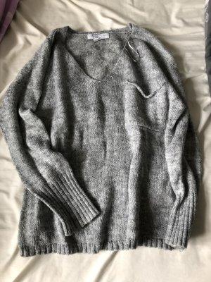 Amisu Maglione lavorato a maglia grigio chiaro
