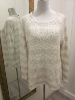 Strick Pullover Creme Weiss Gr XL