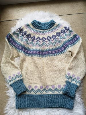 Coarse Knitted Sweater multicolored