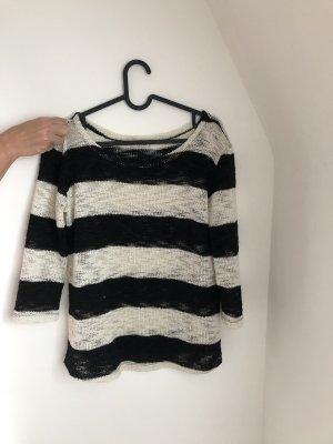 Pull & Bear Maglione lavorato a maglia bianco-nero