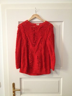 STRICK PULLOVER H&M korall rot special edition