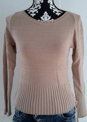 Strick Pullover in beige