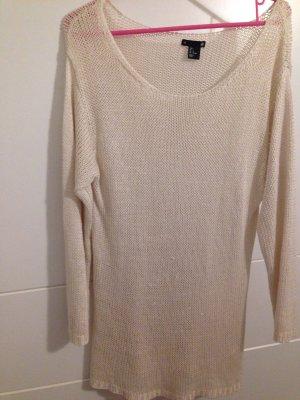 Strick Pullover in Creme weiß