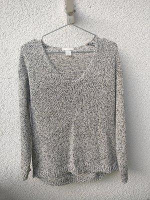 Strick Pullover in weiß/gold/grau von H&M in XS