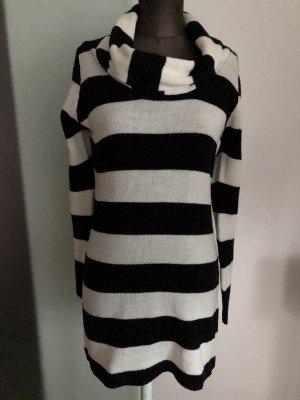 Strick Pullover Long Minikleid Kleid Gr 38 40 S M gestreift