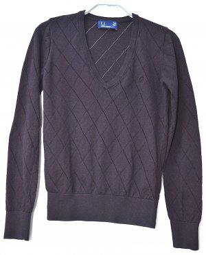 Fred Perry Pull en cashemire rouge mûre tissu mixte