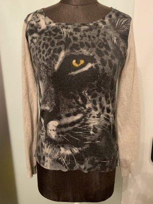 Strick Pullover mit Leopard Gr 36 S von Broadway