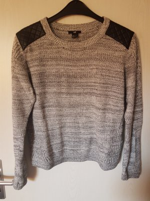 Strick Pullover mit Patches