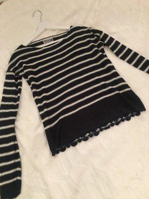 Strick Pullover mit Spitze am Rücken
