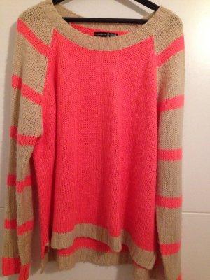 Strick Pullover mit streifen an den Ärmeln