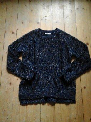 Strick Pullover neu von edc by Esprit blau gemustert Gr. L
