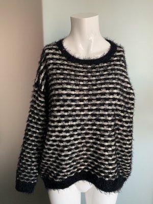 Kimono sweater zwart-wit