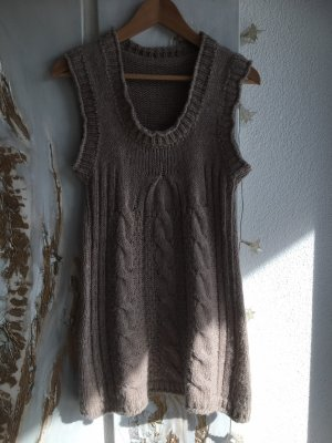 Made in Italy Long Cardigan grey brown-beige