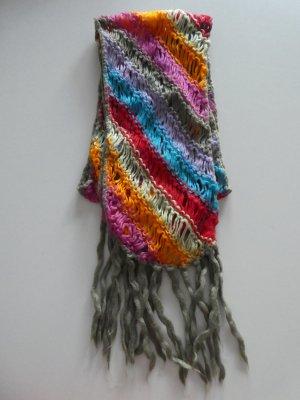 Strick-Schal, bunt gestreift – Gebraucht, jedoch wie neu
