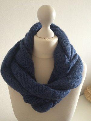 Strick Schal Loop Oversize blau neu Schlauchschal