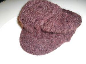 Chapeau en tricot multicolore acrylique