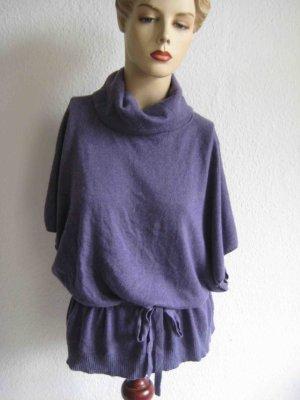 Public Camicia maglia viola-grigio Cotone