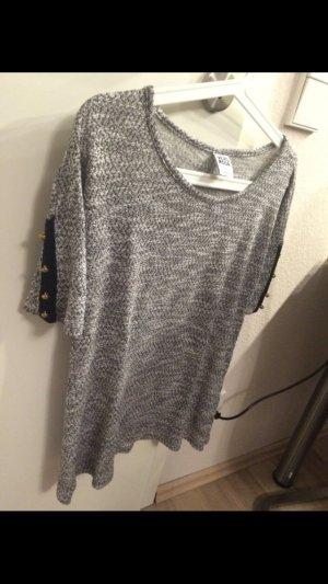 Vero Moda Gebreid shirt zwart-grijs