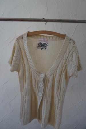 Strick - Shirt / Weste in beige