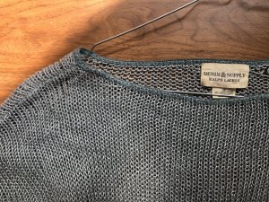 Denim & Supply Ralph Lauren Top en maille crochet bleu cadet-kaki