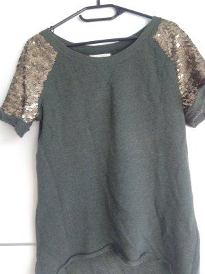 Strick T-Shirt mit Pailettenärmeln