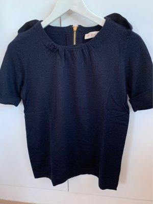 Tory Burch Camisa tejida azul oscuro