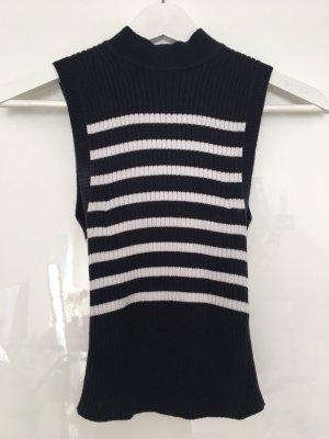 Abercrombie & Fitch Top lavorato a maglia bianco-blu scuro