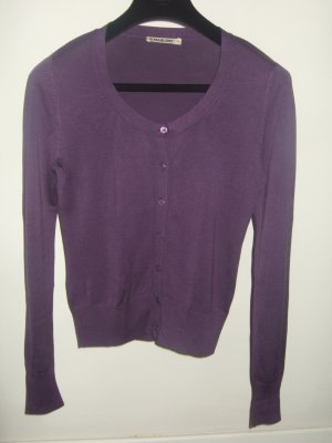 S.Marlon Knitted Top dark violet-violet silk