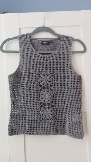 Mexx Knitted Top slate-gray ramie