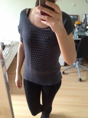 Only Gehaakt shirt grijs-antraciet