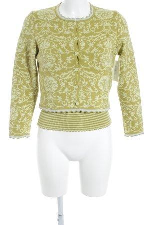 Ensemble en tricot motif floral style extravagant
