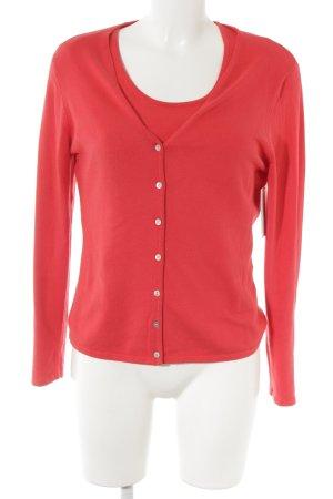 Ensemble en tricot rouge style décontracté